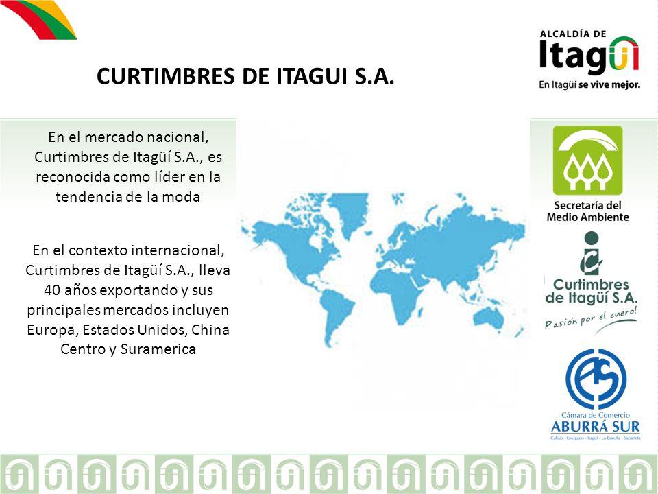 EMPRESA CURTIMBRES DE ITAGUI S.A. En el mercado nacional, Curtimbres de Itagüí S.A., es reconocida como líder en la tendencia de la moda En el context