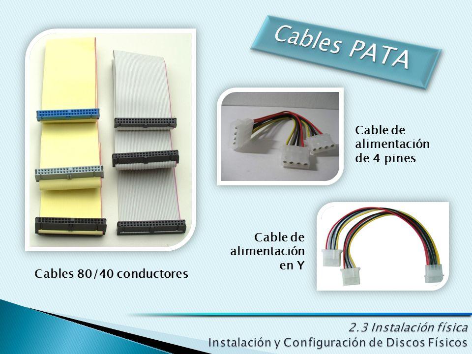 Cables 80/40 conductores Cable de alimentación de 4 pines Cable de alimentación en Y