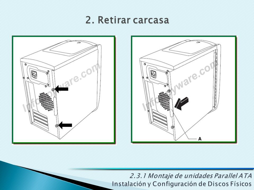 2. Retirar carcasa