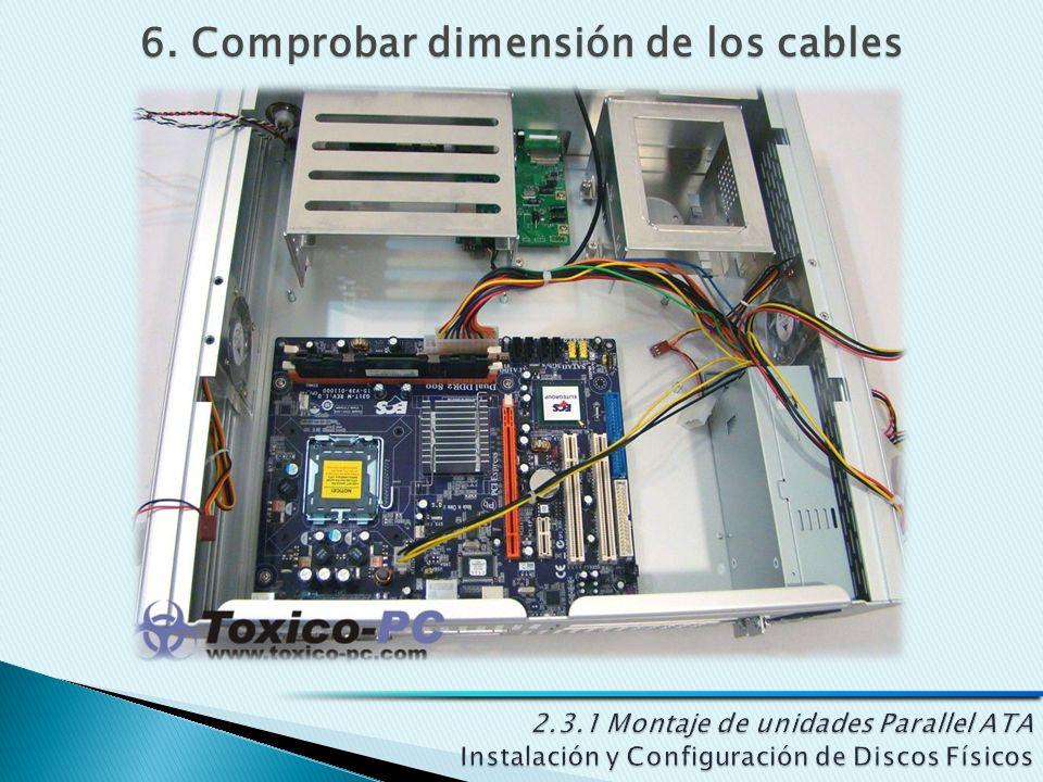6. Comprobar dimensión de los cables