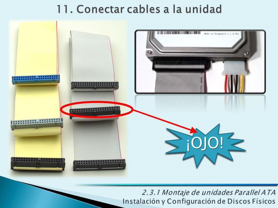 11. Conectar cables a la unidad