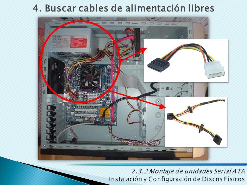 4. Buscar cables de alimentación libres