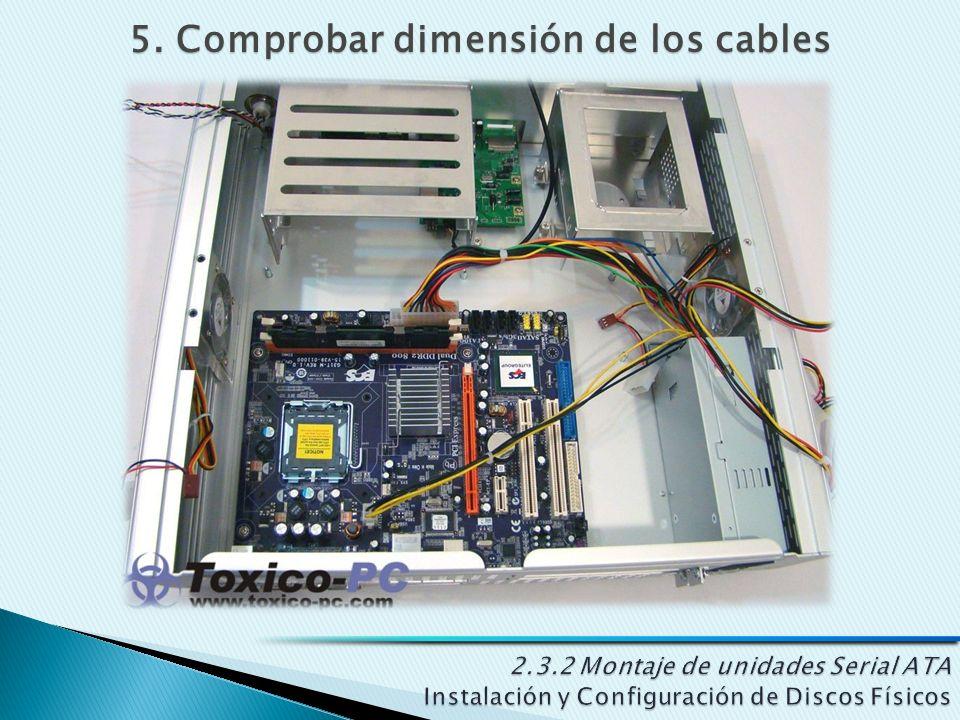 5. Comprobar dimensión de los cables