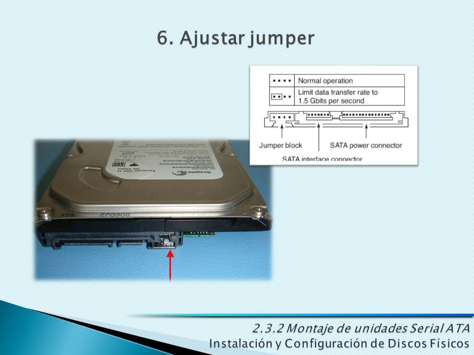 6. Ajustar jumper