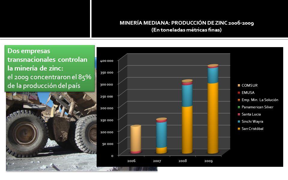 Plata 2010: 7º productor mundial COMIBOL producía plata.