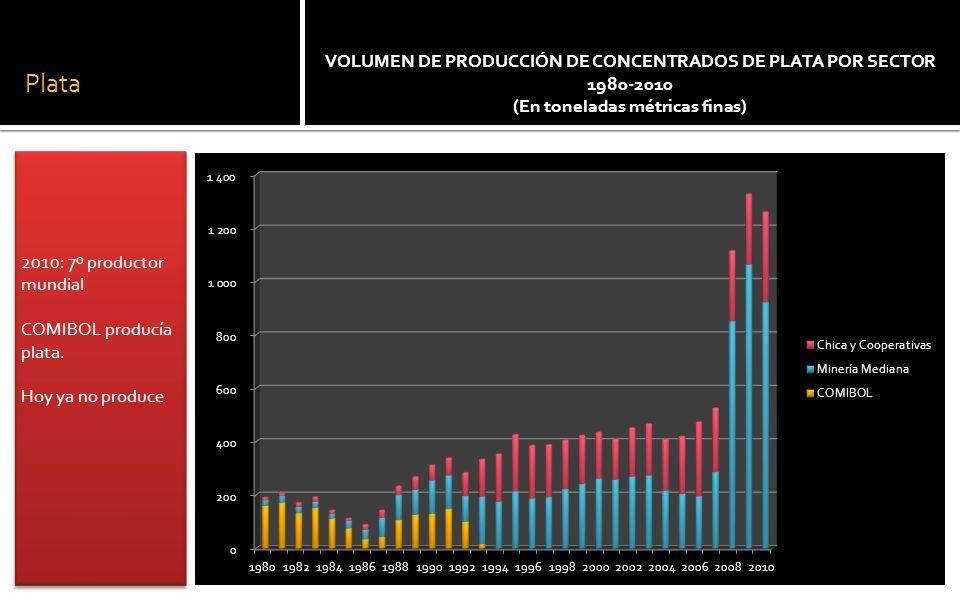 MINERÍA MEDIANA: PRODUCCIÓN DE PLATA 2006-2009 (En toneladas métricas finas) Tres empresas transnacionales controlan la minería de la plata: el 2009 concentraron el 74% de la producción del país Tres empresas transnacionales controlan la minería de la plata: el 2009 concentraron el 74% de la producción del país
