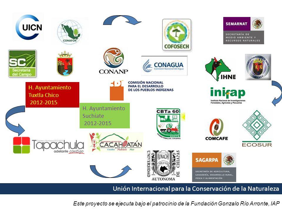 Este proyecto se ejecuta bajo el patrocinio de la Fundación Gonzalo Río Arronte, IAP Unión Internacional para la Conservación de la Naturaleza GESTIÓN DE FINANCIAMIENTO COORDINACIÓN H.
