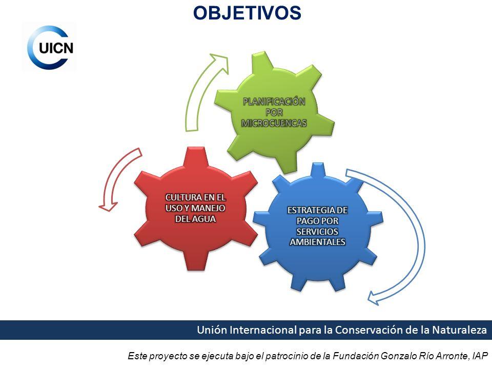 Este proyecto se ejecuta bajo el patrocinio de la Fundación Gonzalo Río Arronte, IAP Unión Internacional para la Conservación de la Naturaleza OBJETIVOS