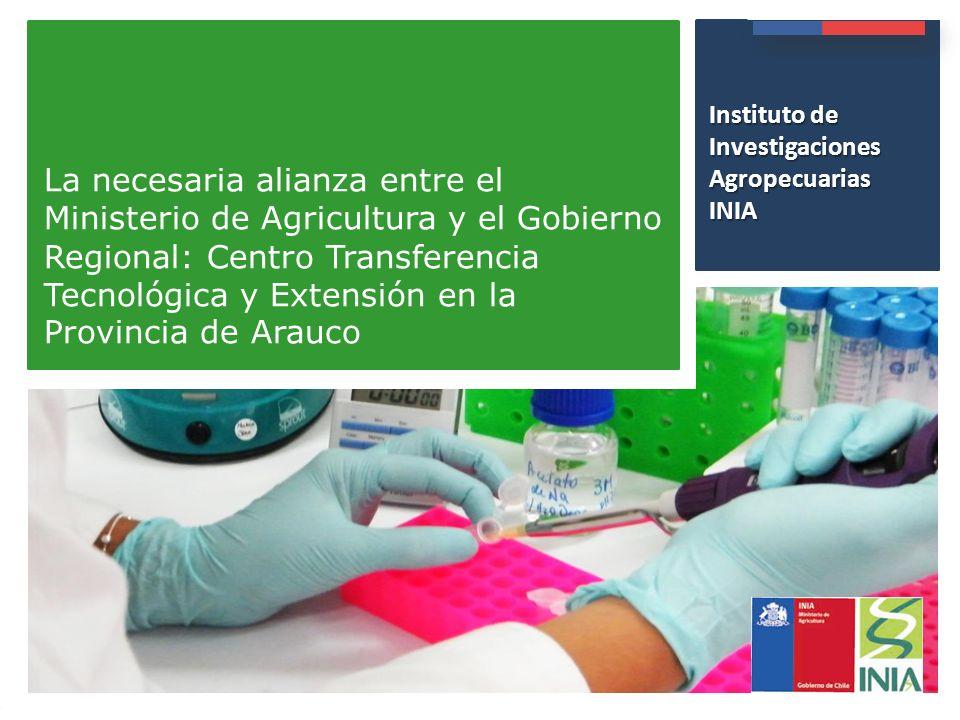 Presentación Institucional Instituto de Investigaciones Agropecuarias - INIA Instituto de Investigacione s Agropecuarias INIA La necesaria alianza ent