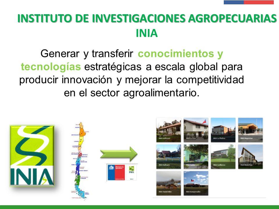 Presentación Institucional Instituto de Investigaciones Agropecuarias - INIA INSTITUTO DE INVESTIGACIONES AGROPECUARIAS INSTITUTO DE INVESTIGACIONES A