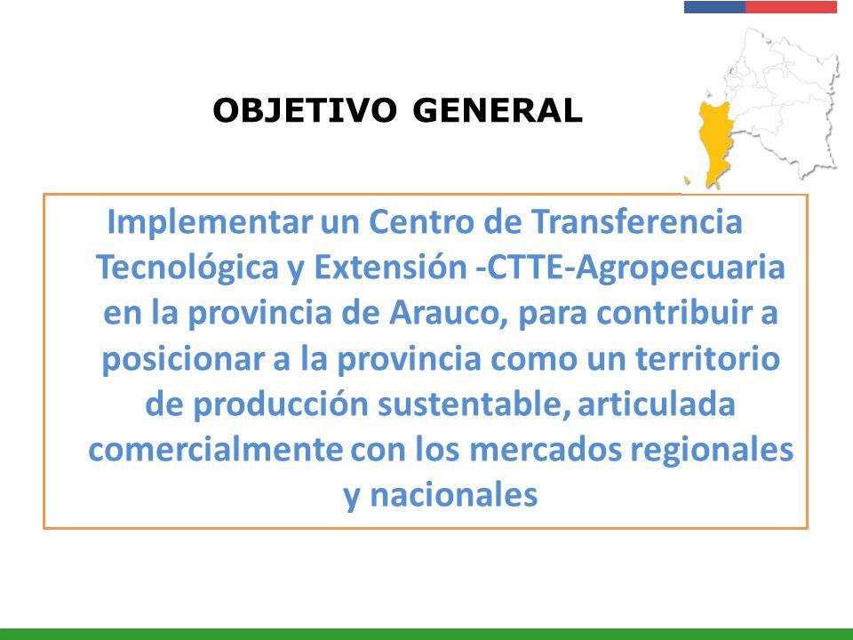 Presentación Institucional Instituto de Investigaciones Agropecuarias - INIA OBJETIVO GENERAL Implementar un Centro de Transferencia Tecnológica y Ext