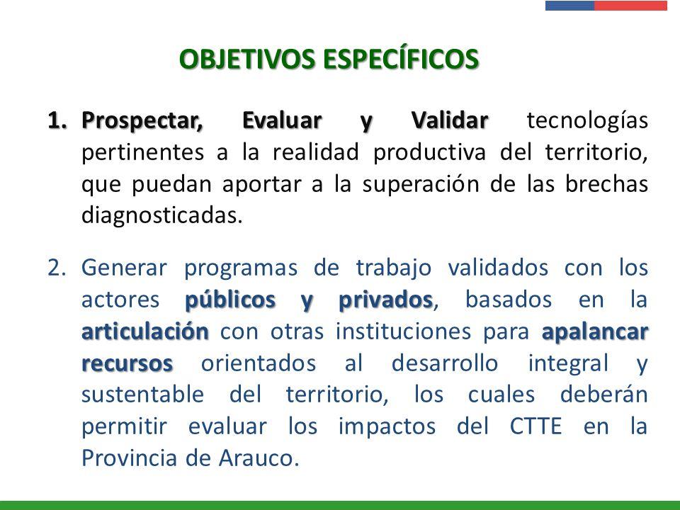 Presentación Institucional Instituto de Investigaciones Agropecuarias - INIA OBJETIVOS ESPECÍFICOS 1.Prospectar, Evaluar y Validar 1.Prospectar, Evalu
