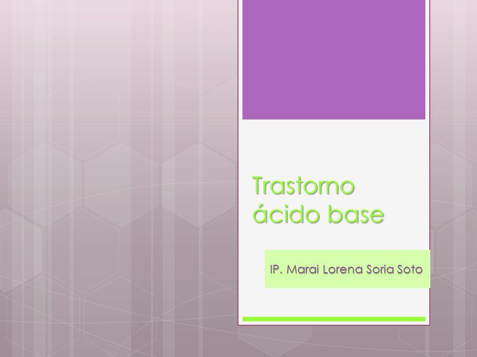 Trastorno ácido base IP. Marai Lorena Soria Soto