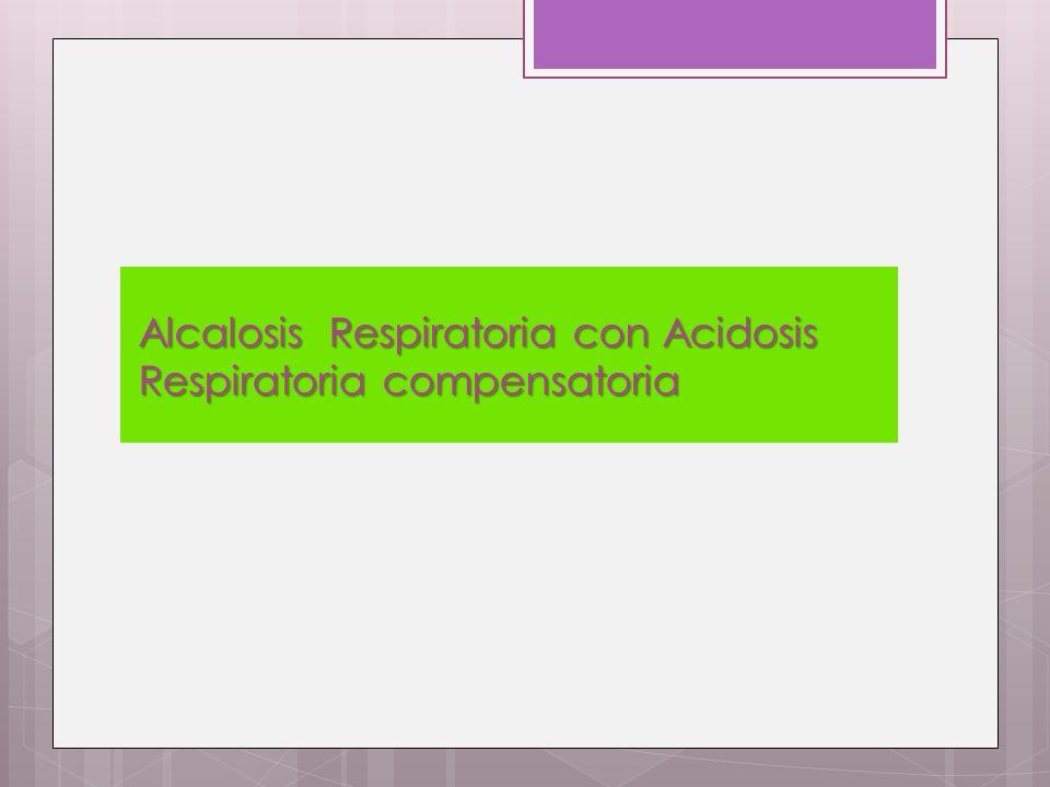 Alcalosis Respiratoria con Acidosis Respiratoria compensatoria