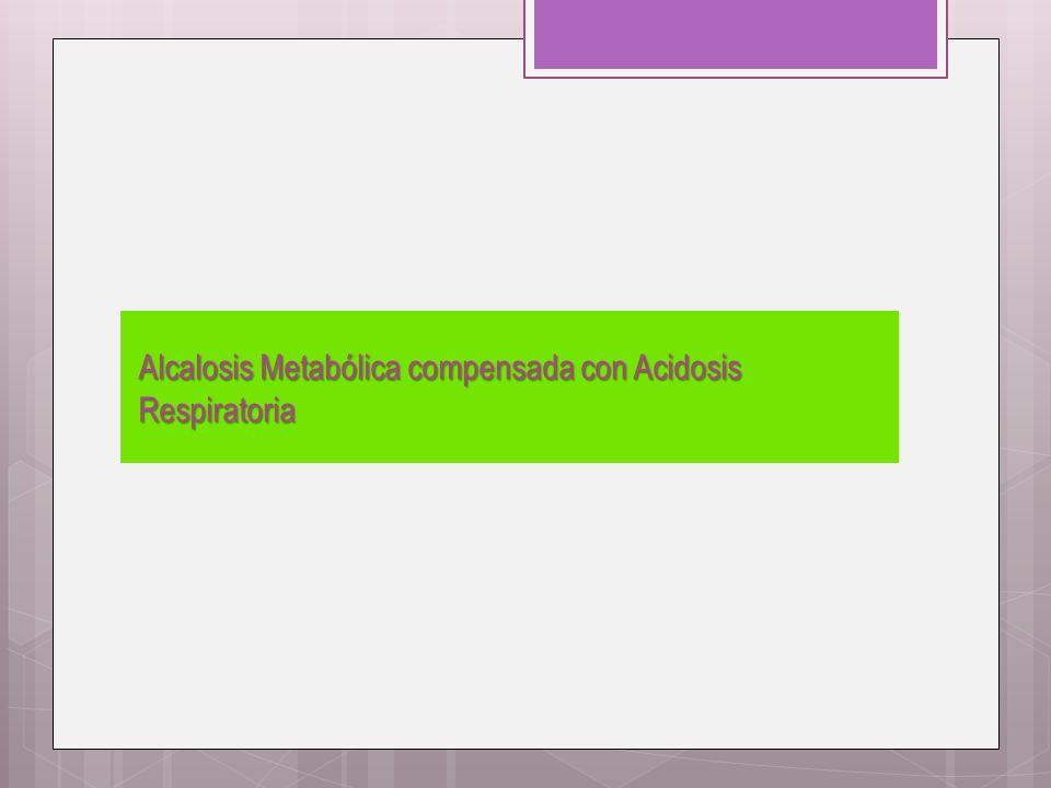 Alcalosis Metabólica compensada con Acidosis Respiratoria