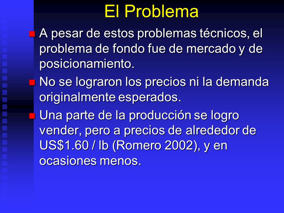 El Problema A pesar de estos problemas técnicos, el problema de fondo fue de mercado y de posicionamiento. A pesar de estos problemas técnicos, el pro