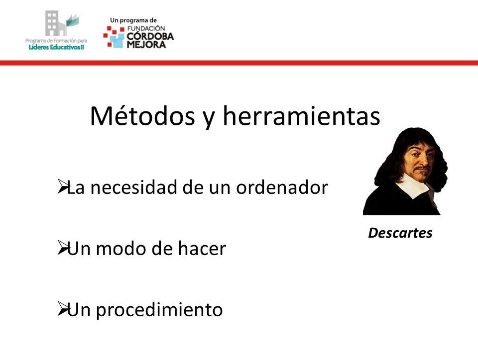 Métodos y herramientas La necesidad de un ordenador Un modo de hacer Un procedimiento Descartes