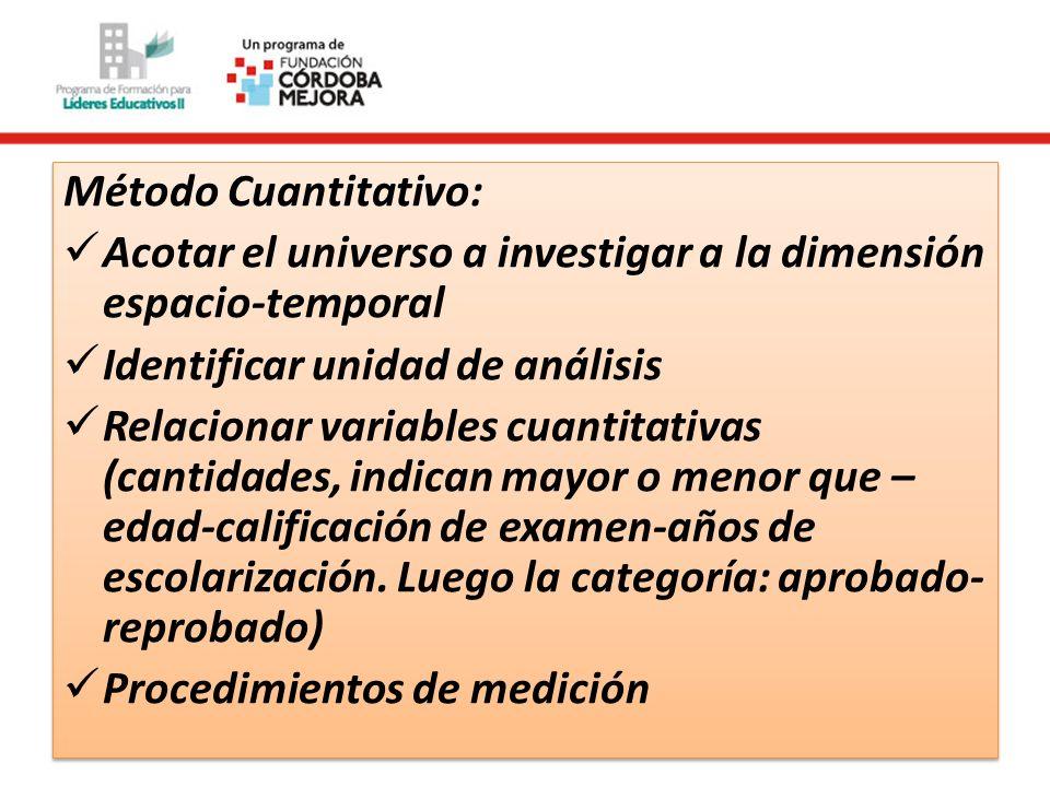 Método Cualitativo (etnográfico) ¿cuál es la unidad de análisis.