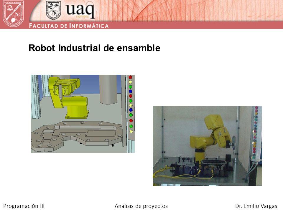 Programación III Análisis de proyectos Dr. Emilio Vargas Dispositivo dosificador de cartón