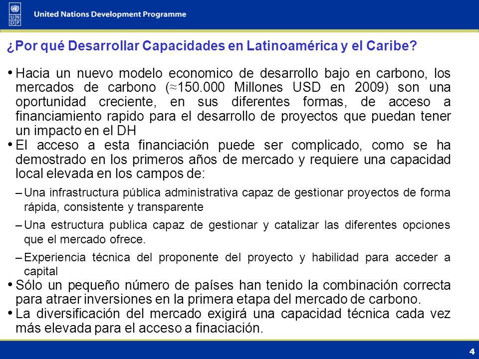 4 ¿Por qué Desarrollar Capacidades en Latinoamérica y el Caribe.