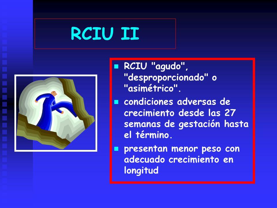 RCIU II RCIU agudo , desproporcionado o asimétrico .