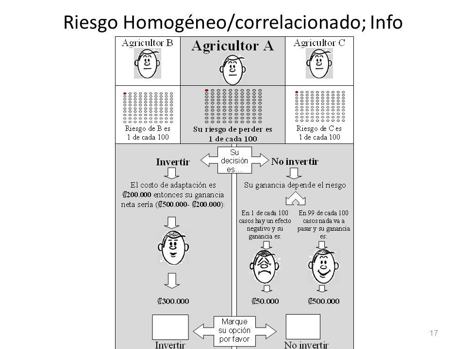 17 Riesgo Homogéneo/correlacionado; Info