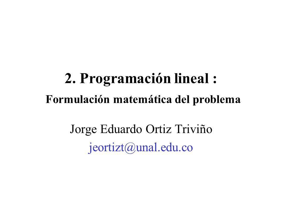 Objetivos del Capítulo 4Fijar los requerimientos para establecer un modelo de programación lineal.