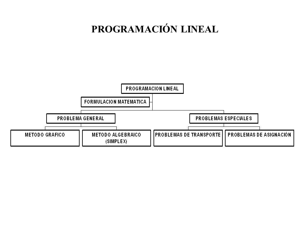 La importancia de la programación lineal: * Ciertos problemas se describen fácilmente a través de la programación lineal.