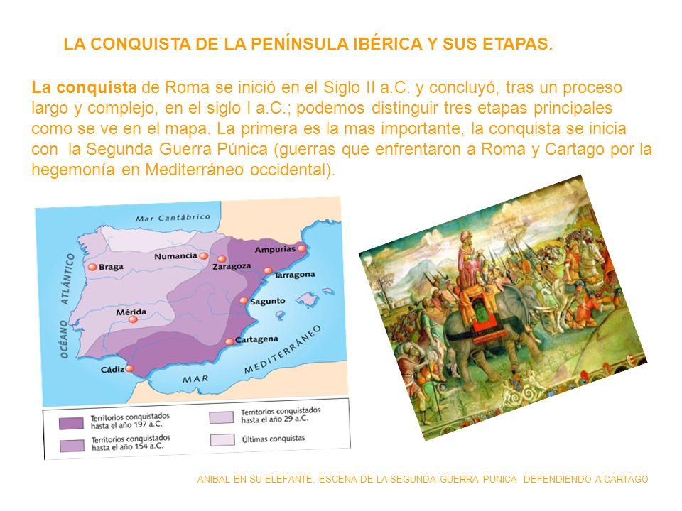 LA CONQUISTA DE LA PENÍNSULA IBÉRICA Y SUS ETAPAS.