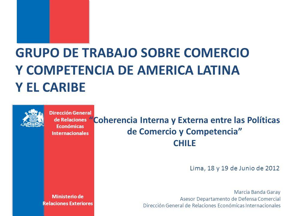 Dirección General de Relaciones Económicas Internacionales Disposiciones en los Acuerdos Inter-agencia Cooperación y coordinación Consultas/pre- vención de conflictos Cooperación técnica NotificacionesReuniones de autoridades Confidencialidad Panamá (7) 777706 Chile (8) 757343 Brasil (8) 848458 Colombia (4) 001100 Costa Rica (8) 558140 El Salvador (9) 459404 Totales 312640201321