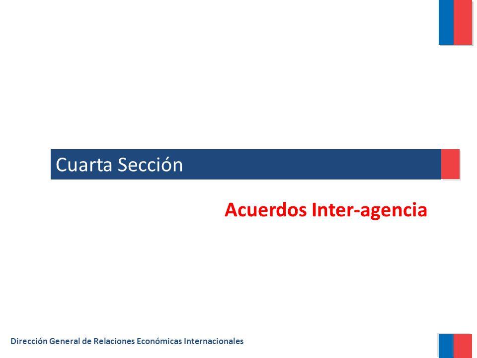 Cuarta Sección Dirección General de Relaciones Económicas Internacionales Acuerdos Inter-agencia