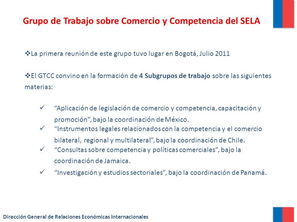 Subgrupo2:Instrumentos Legales Relacionados con la Competencia y el Comercio Bilateral, Regional y Multilateral Compromiso: intercambio de información entre organismos y normas de política de competencia y su relación con el comercio internacional.