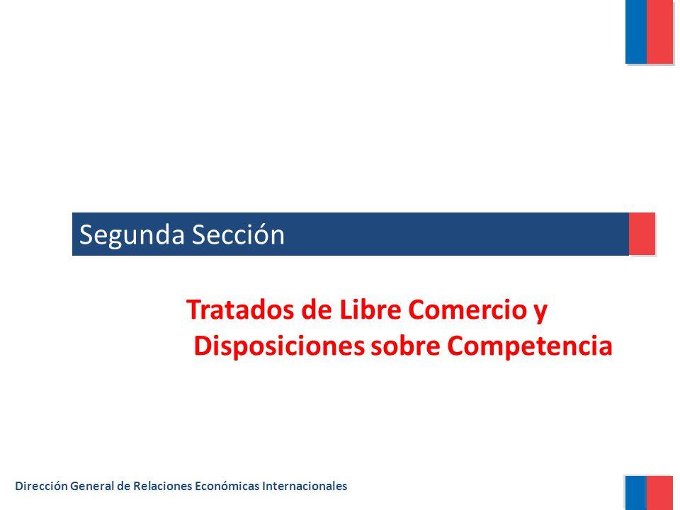 Segunda Sección Dirección General de Relaciones Económicas Internacionales Tratados de Libre Comercio y Disposiciones sobre Competencia