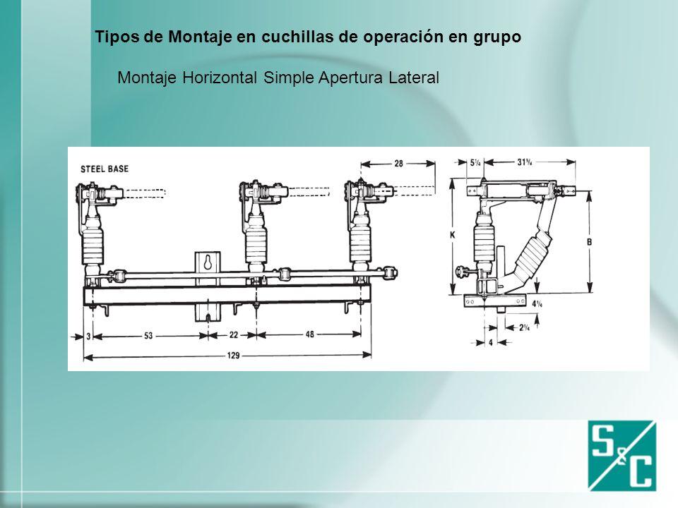 Cuchillas de operqción en grupo apertura con carga Tipo Alduti