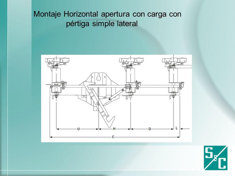Montaje en línea vertical apertura simple lateral