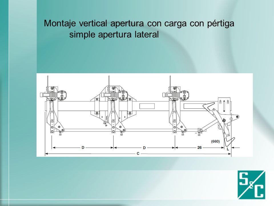 Montaje Horizontal apertura con carga con pértiga simple lateral
