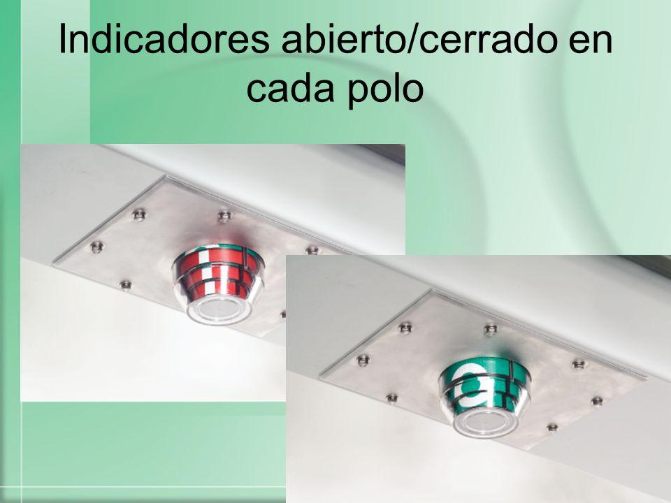 Etiqueta de línea viva Etiqueta de línea viva Control y radio removible removible Palanca para las tres fases abierto/cerrado Palanca para las tres fases abierto/cerrado Interruptor de vacío integradoInterruptor integrado Alimentador de energía integrado integrado Sensores de Voltaje y corriente integrados Sensores de Voltaje y corriente integrados ApartarayosApartarayos Indicadores cerrado/abierto Voltaje: 15.5 y 27 kV Interrupción: 12,500 A Corriente Continua: 630/800 A