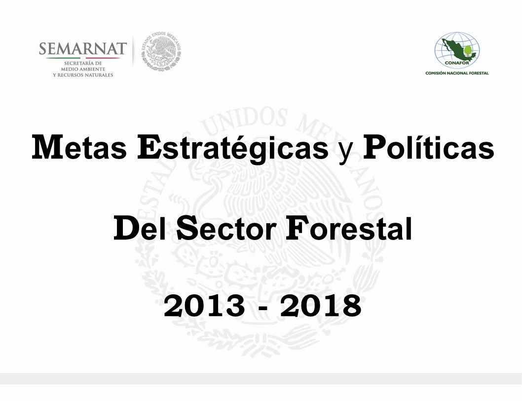 E l S ector F orestal en el P acto por M éxico o M éxico P róspero: o Promover la reactivación productiva que genere alternativas de desarrollo económico regional para la población que vive asociada a los bosques, incentivando el empleo y derrama económica bajo el esquema de manejo sustentable de los recursos forestales.