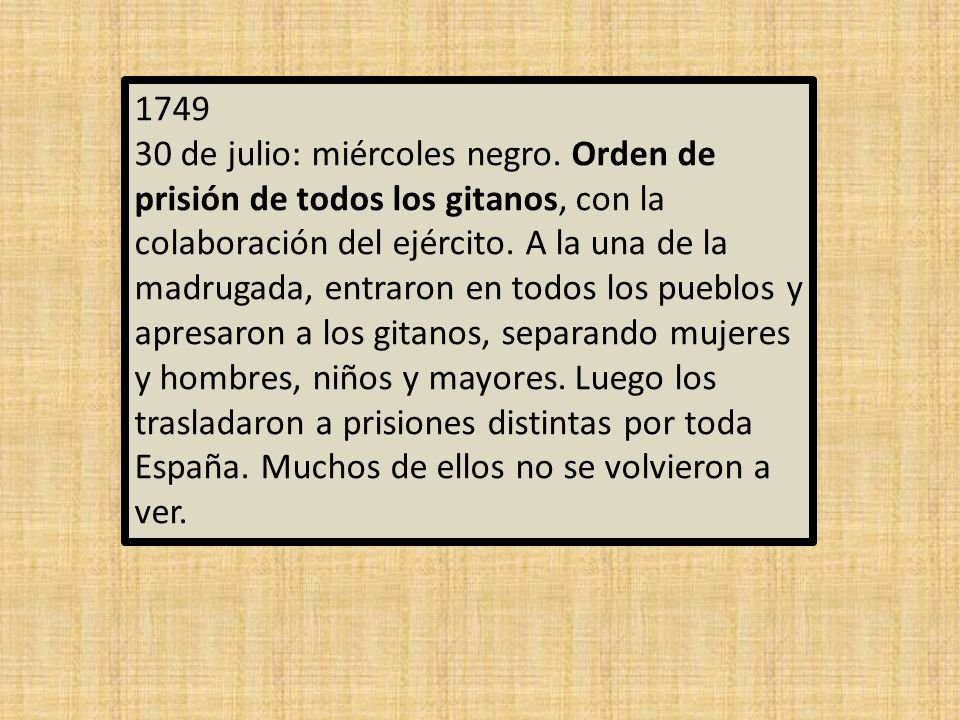 1749 30 de julio: miércoles negro.
