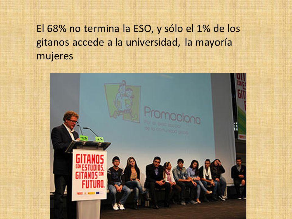 El 68% no termina la ESO, y sólo el 1% de los gitanos accede a la universidad, la mayoría mujeres.