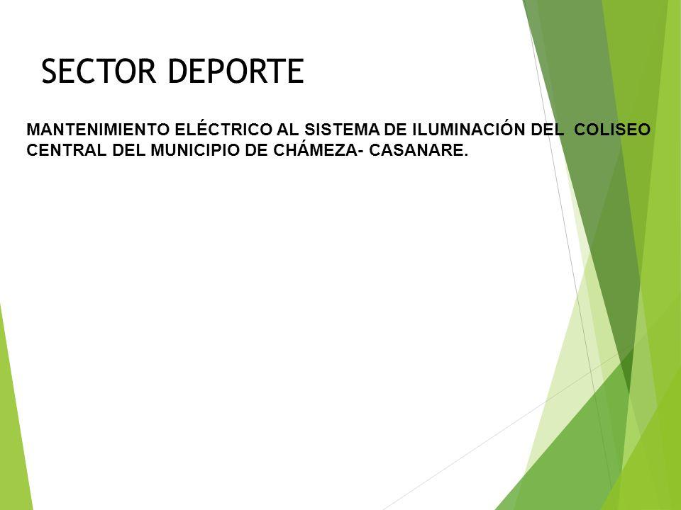 SECTOR DEPORTE REPARACIÓN Y ADECUACIÓN DE LA INFRAESTUCUTRA DE LA MANGA DE COLEO DEL MUNICIPIO DE CHÁMEZA, CASANARE.
