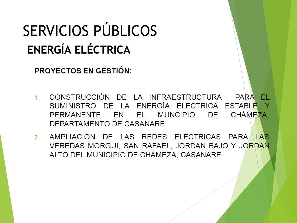 SERVICIOS PÚBLICOS AGUA POTABLE Y SANEAMIENTO BÁSICO PROYECTOS DE GESTIÓN: CONSTRUCCIÓN DEL ACUEDUCTO DE LA VEREDA BARRIALES DEL MUNICIPIO DE CHÁMEZA,