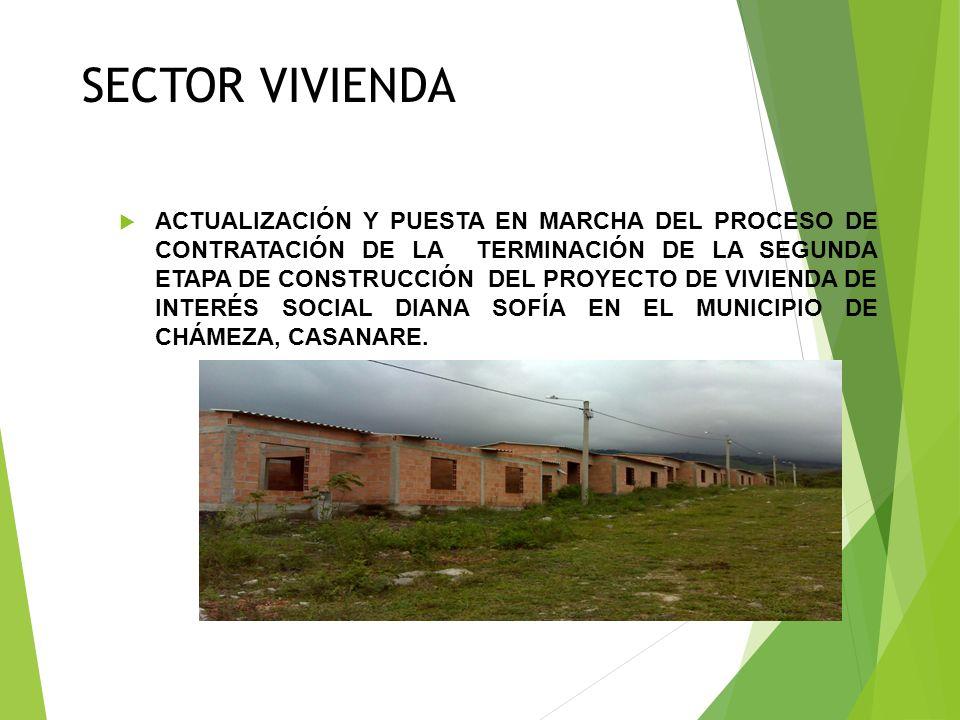 SECTOR VIVIENDA CONSTRUCCIÓN DE UNA VIVIENDA PREFABRICADA DE 42 M², EN EL ÁREA URBANA DEL MUNICIPIO DE CHÁMEZA, CASANARE COMO SOLUCIÓN HABITACIONAL Y