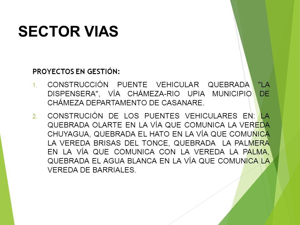 SECTOR VIAS MANTENIMIENTO A LAS VIAS TERCIARIAS DE LAS VEREDAS SAN RAFAEL, JORDAN ALTO, JORDAN BAJO, SINAGAZA, GURUBITA, CHUYAGUA, CENTRO NORTE, MUNDO