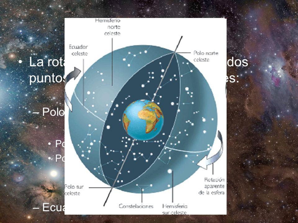Ecuador y Polos La rotación de la tierra determina dos puntos y un plano muy importantes: –Polos: Polo N Polo S –Ecuador: