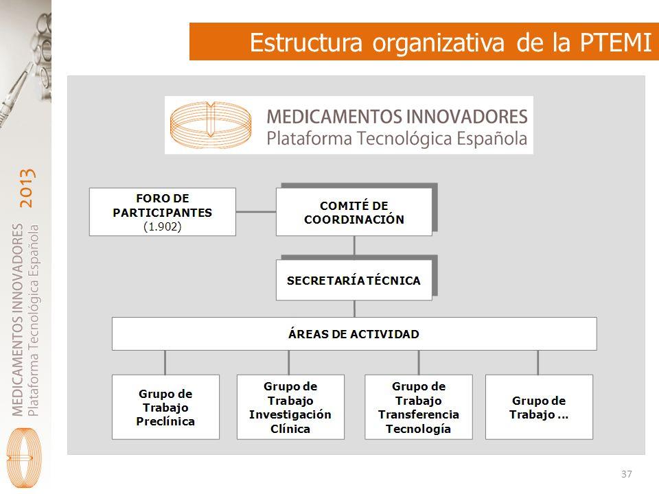 2013 Estructura organizativa de la PTEMI 37