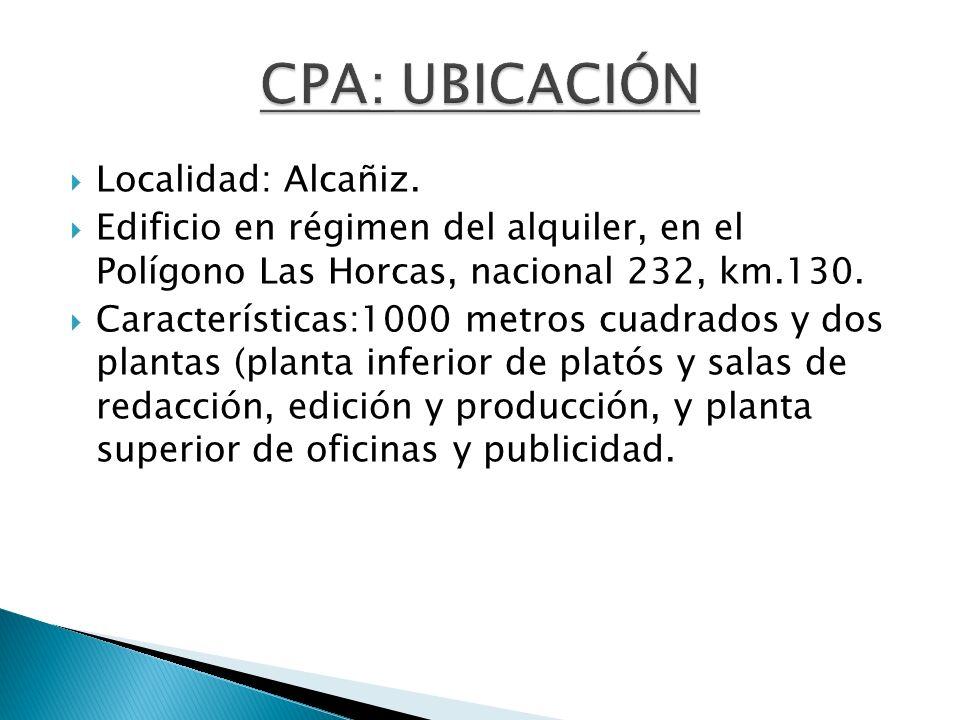 Localidad: Alcañiz. Edificio en régimen del alquiler, en el Polígono Las Horcas, nacional 232, km.130. Características:1000 metros cuadrados y dos pla