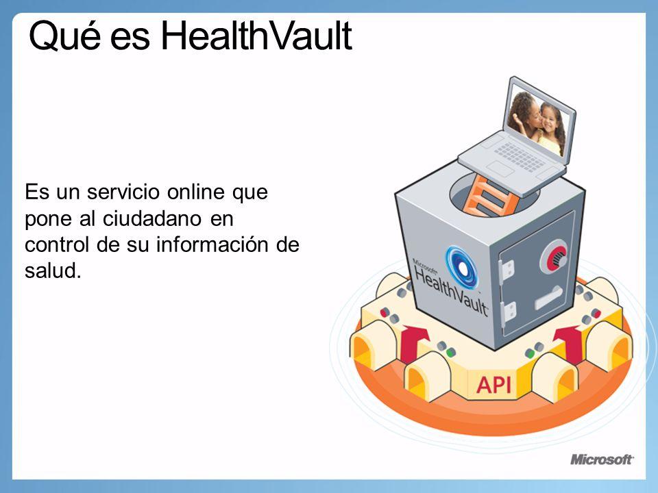 Es un servicio online que pone al ciudadano en control de su información de salud.