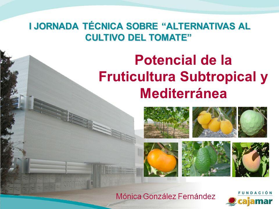 I JORNADA TÉCNICA SOBRE ALTERNATIVAS AL CULTIVO DEL TOMATE I JORNADA TÉCNICA SOBRE ALTERNATIVAS AL CULTIVO DEL TOMATE Potencial de la Fruticultura Sub