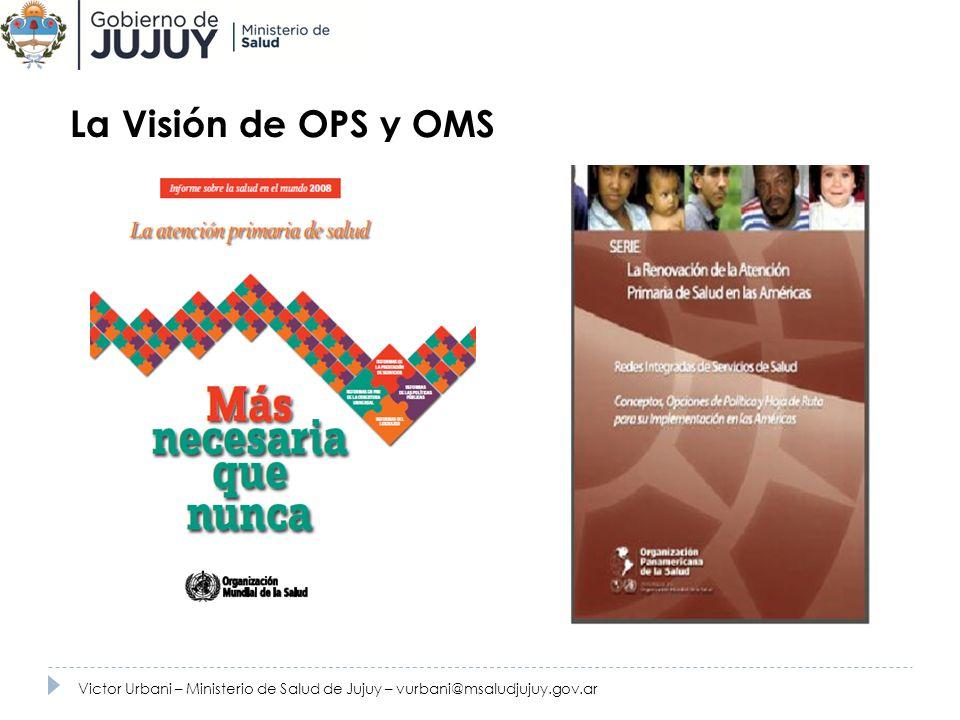 La Visión de OPS y OMS Victor Urbani – Ministerio de Salud de Jujuy – vurbani@msaludjujuy.gov.ar